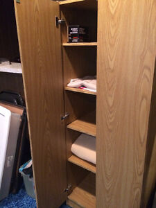 Shelving, with doors, excellent condition