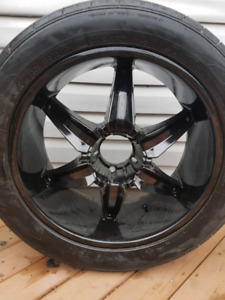 """Helo he866 22"""" rims mounted on nitto nt420s 305/45r22 tires"""