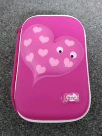 BNWT tinc pink loveheart hard case pencil case