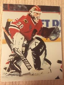 3 NHL HOCKEY PLAYER LAMINTED PICTURES INCL. SAKIC, BELFOUR +