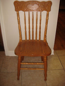 Solid Oak PressBack Dining Chairs