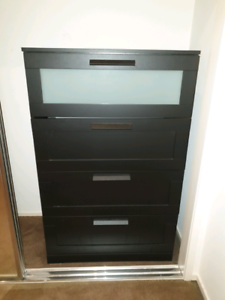 Ikea dark brown draw set