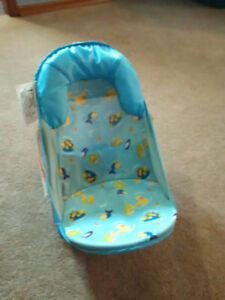 Baby bathing chair and diaper caddy
