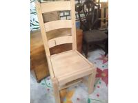 2 x Solid Beech Dining Chairs for sale