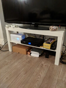 White coffee table and TV stand set -$15