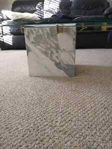 Marble Base Glass Top Coffee and End Tables Kitchener / Waterloo Kitchener Area image 3