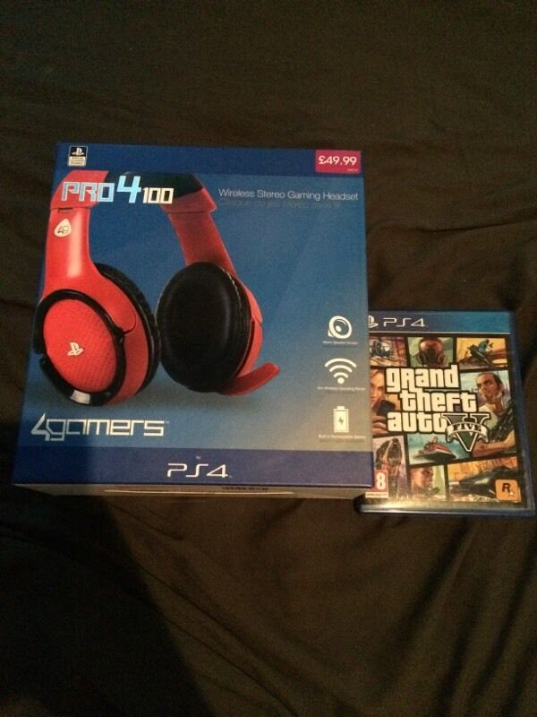GTA 5 and new wireless PS4 headset cheapin Basford, NottinghamshireGumtree - GTA 5 for PS4 and new wireless PS4 headset cheap! Headset worth £50 and GTA worth around £40. Need gone today asap. Collection from basford or can deliver locally