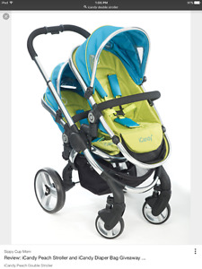 I candy double stroller/pousette for sale/a vendre