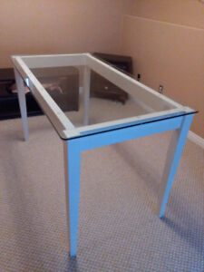 Beautiful custom made glass table
