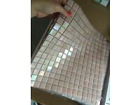 Shell Pink Iridescent Mosaic Tiles for Kitchen/Bathroom