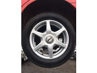 "Ford Focus 15"" alloy wheels with tyres"