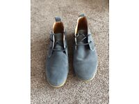 Grey suede shoes - basically brand new - size 10