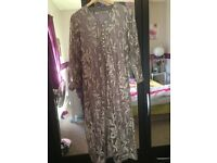 Net gown three piece Asian suit