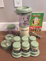 Baby bullet and storage containers