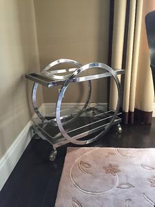 Chrome bar cart