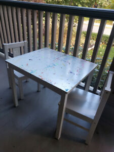 Ikea Children Table and Chairs (2)