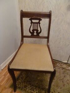 SUPER LOW PRICE-2 Antique Chairs and a Modern Stool