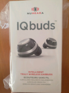 IQBuds wireless earbuds (portable charging case)
