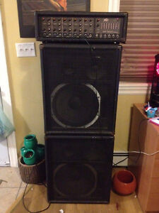 VINTAGE SOUND SYSTEM 2xPeavey 358S & Peavey xr500C