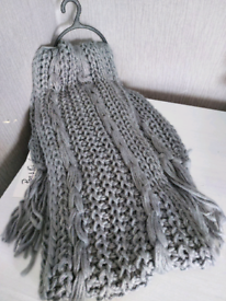 Grey knitted scarfs