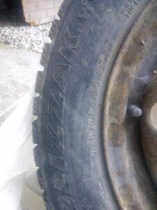 Blizzak tires with rims