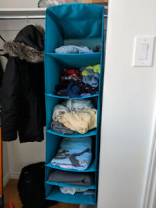 IKEA Skubb Hanging Clothes Organizer, 6 compartments, turquoise