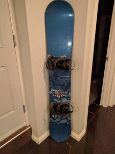 Reduced!  SALOMON CLASSIC 163 BOARD WITH BINDINGS