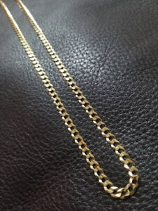 10k Yellow Gold Curb Chain (4mm)
