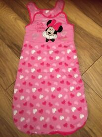 Minnie Mouse pink sleep bag - size 12-18 months