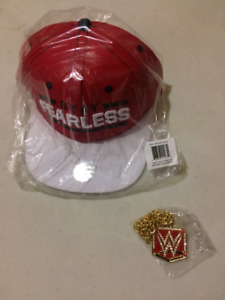 NIKKI BELLA WWE WRESTLING HAT & WOMEN'S BELT PENDANT SET