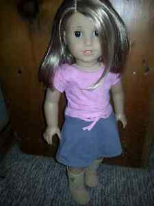 American girl doll and clothing lot
