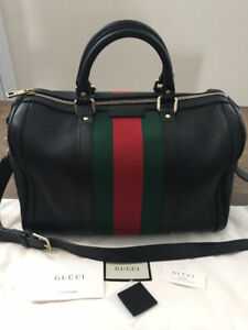 Authentic Gucci Vintage Web Boston Bag  Mint condition