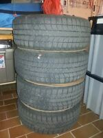 4 Blizzak WS70 Ice and Snow Tires with Mags 205/50R17 fits BMW!
