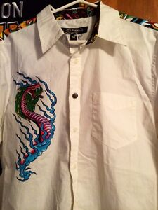 Ed Hardy - Dragon and Tiger Artwork shirt