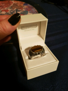 Mens Tigers Eye Ring