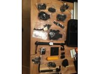 GoPro hero4 silver LCD back screen with all the accessories
