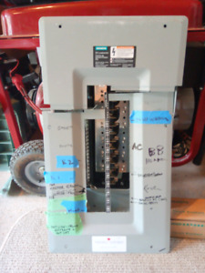 Siemens 100 amp rated panel and breakers