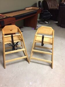 Wooden restaurant style high chairs