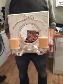 Mirror with candles