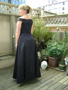 Black Evening or Grad Dress-full length Downtown-West End Greater Vancouver Area image 2