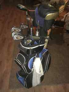 Right Handed Golf Club Set and Bag