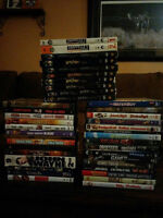 Pile of assorted DVD's