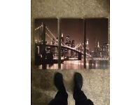 Set of 3 hanging pictures