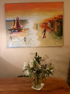 Original Oil Painting on Canvas (30 x40 in) - signed