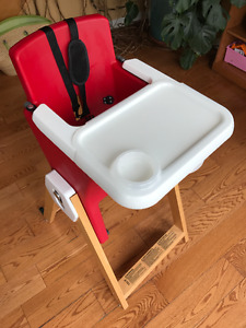 Baby/toddler Highchair. Convertible, sturdy, easy to clean