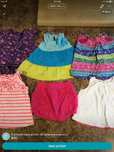 6-9 month baby girl clothing lot ( 20 pieces )