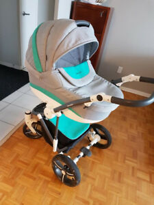 Euro stroller with bassinet