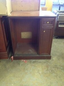 $$$. Liquidation cabinet in mahogany finish today only$$$$