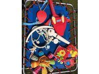 Baby toys bundle( door bouncer, cot mobile etc)