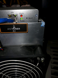 ANTMINER A3 with psu. Ready to mine siacoins and start earring.